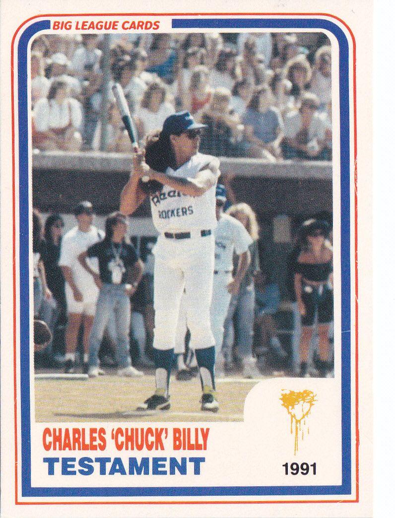 Chuck Billy baseball card. Baseball =Metal | MY NEPHEW | Pinterest