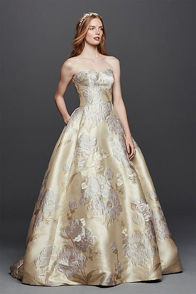 Oleg Cini Brocade Wedding Dress With Pockets Style Cwg734 In Online 1 250 00 150