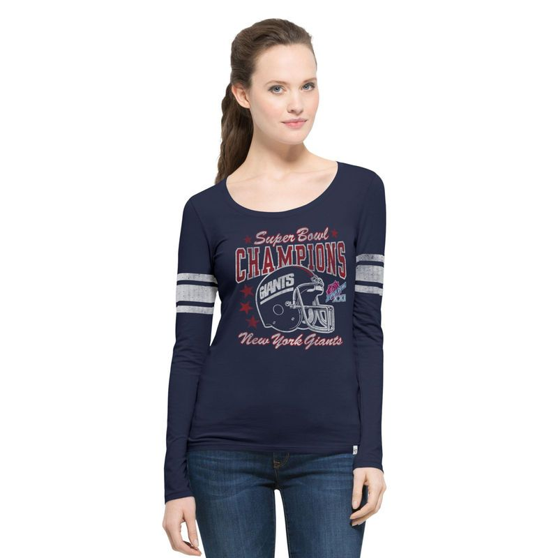81d3024a4 New York Giants  47 Women s On the Fifty Super Bowl XXI Champion Scoop Neck  Long