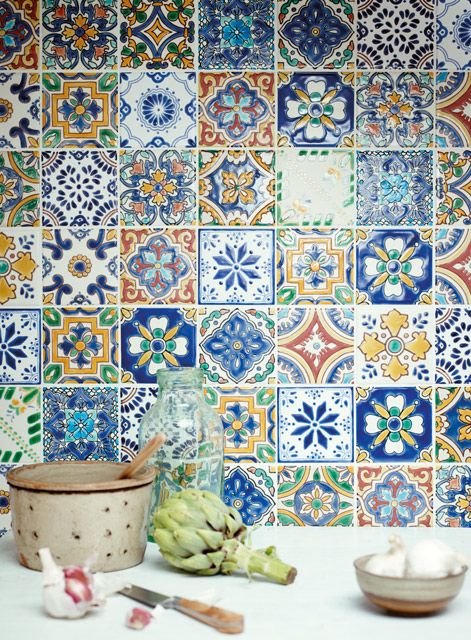 Acapulco Wall Tiles Http Www Firedearth Com Tiles Range Acapulco Tile Range Acapulco Riviera Mode Grid Patchwork Tiles Wall Tiles Painting Tile