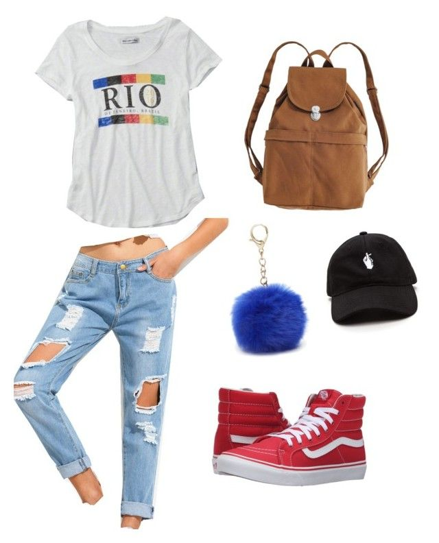"""Perfect Outfit for Rio"" by abbystaffieri-1 on Polyvore featuring Abercrombie & Fitch, Vans, BAGGU and Nine West"