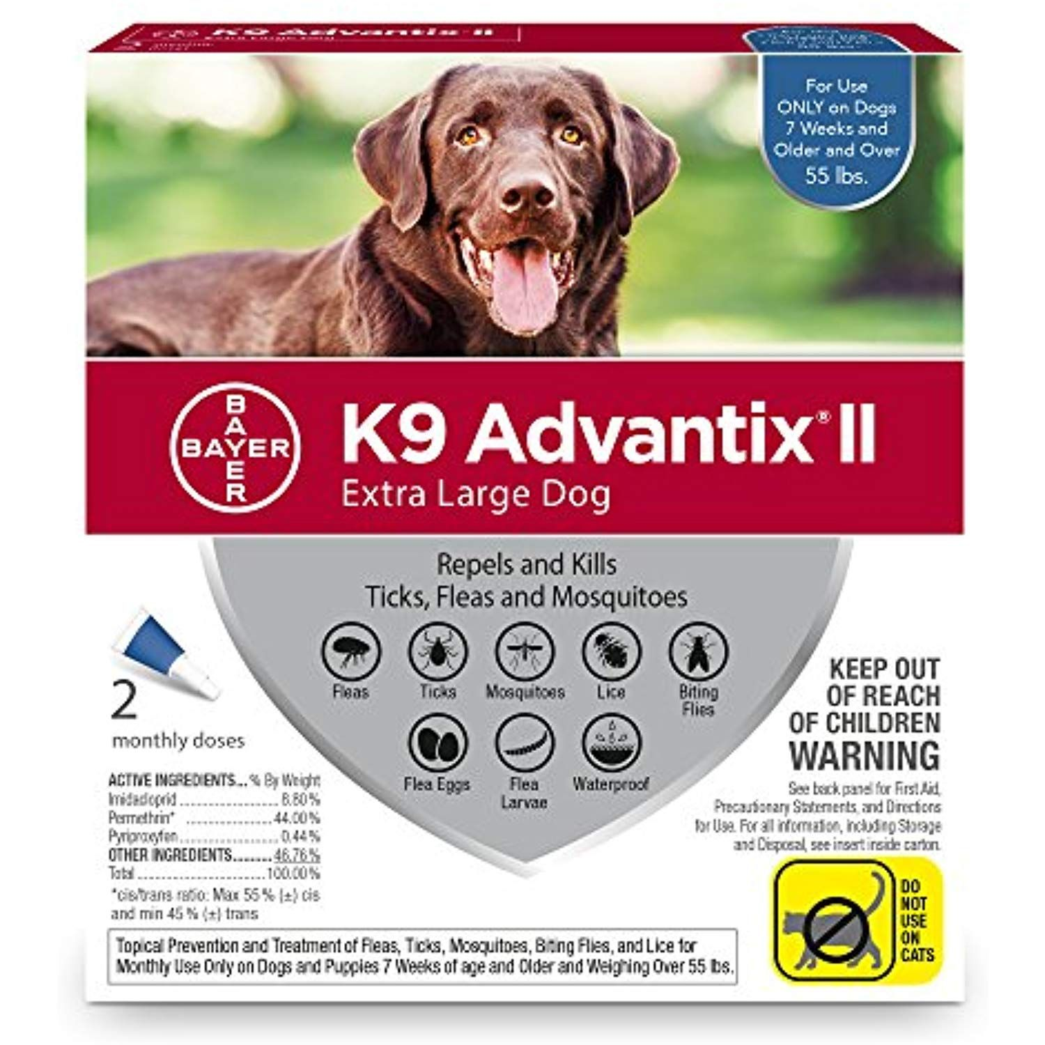 Bayer K9 Advantix Ii Flea Tick And Mosquito Prevention For Xlarge Dogs Over 55 Lbs 2 Doses See This Great Product Th Tick Treatment Fleas Flea And Tick