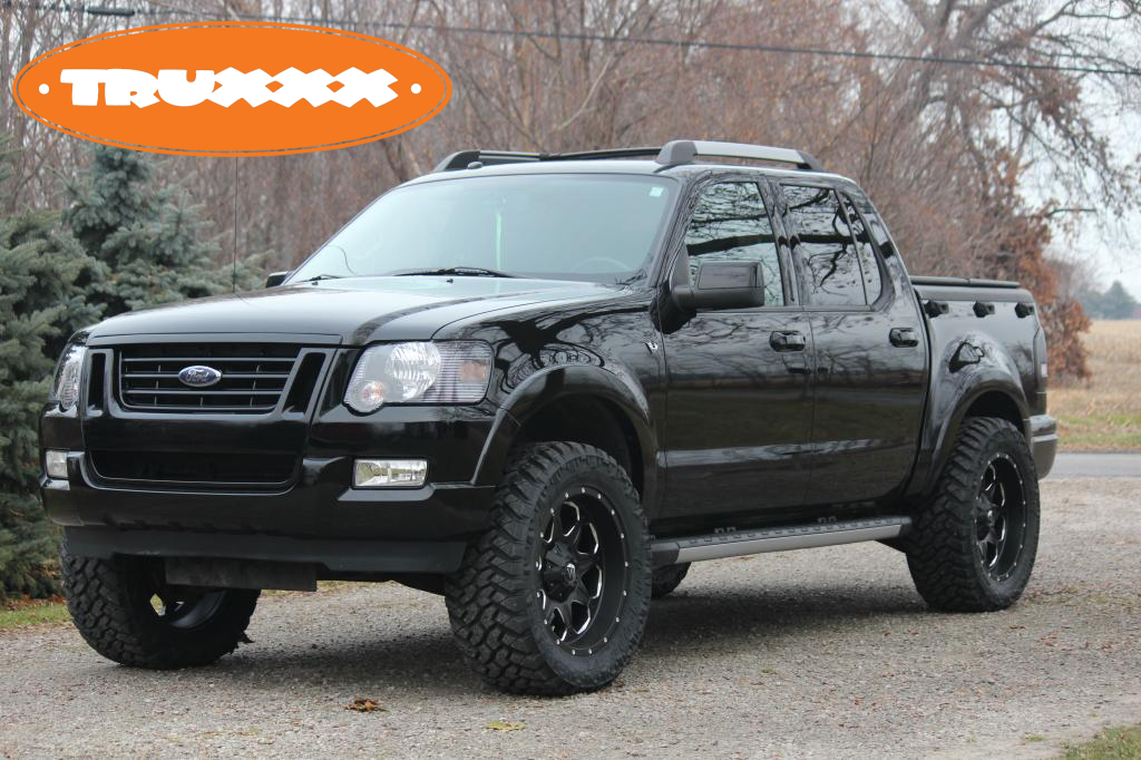 Lifted Ford Explorer Sportrack On Fuel Offroad Wheels Ford Sport