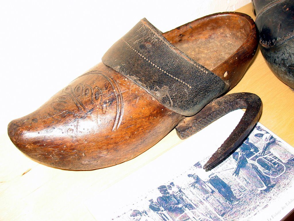 These Are Wooden Shoes Called Sabots Now Known As Clogs The Word