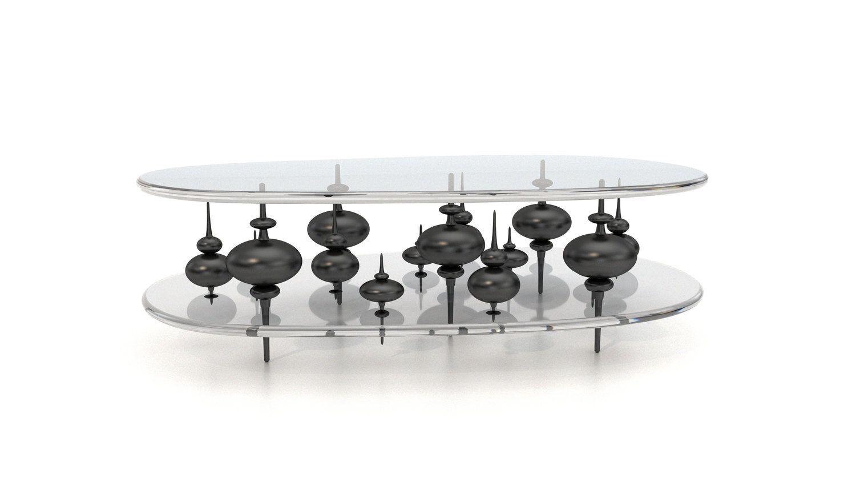 Baker Hesseldenz Studio Minaret Cocktail Table Luxury Furniture Table Coffee Table [ 844 x 1500 Pixel ]