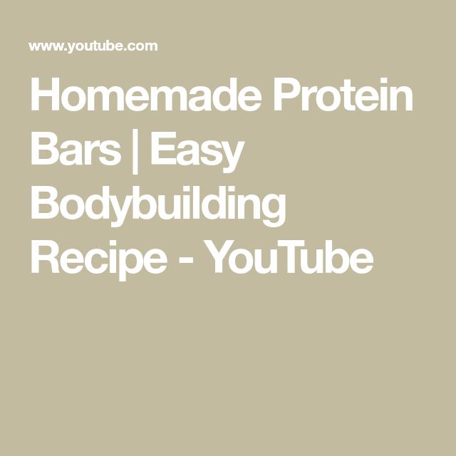 Homemade Protein Bars | Easy Bodybuilding Recipe #bodybuildingrecipes Homemade Protein Bars | Easy Bodybuilding Recipe - YouTube #Bars #Bodybuilding #bodybuildingrecipes #Easy #Homemade #Protein #Recipe #YouTube