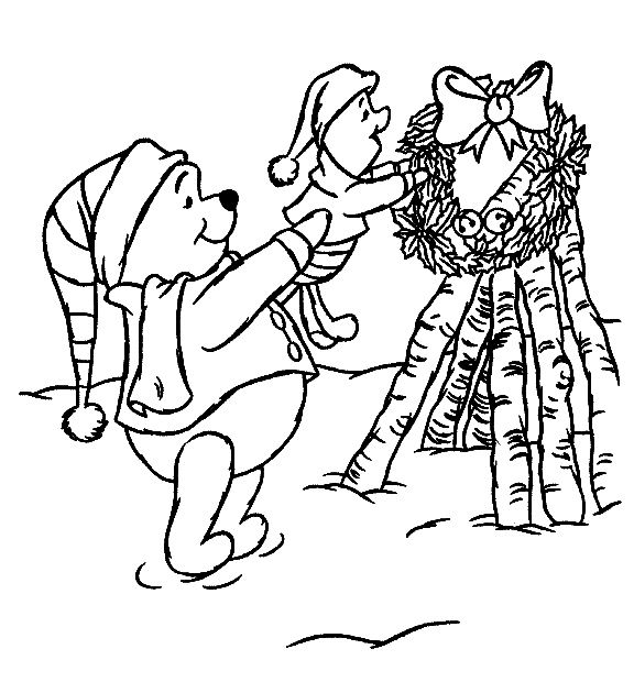 Winnie The Pooh Coloring Pages Christmas Coloring Pages For Christmas Christmas Trees Cartoon Coloring Pages Christmas Coloring Pages Disney Coloring Pages