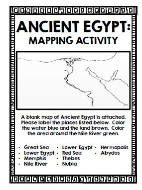 ancient egypt map activity worksheet free worksheets library download and print worksheets. Black Bedroom Furniture Sets. Home Design Ideas