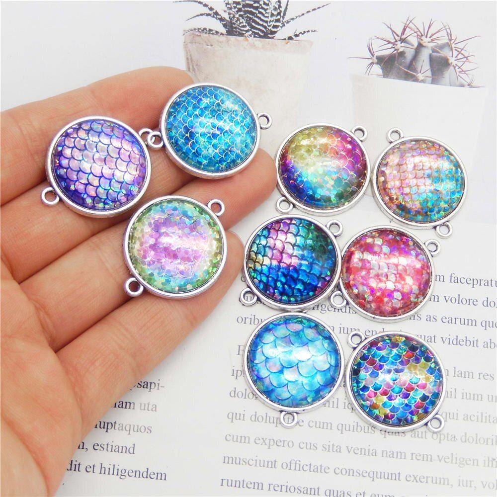 Crystal DIY Jewelry Findings 5pcs Making Accessories Charms Connectors