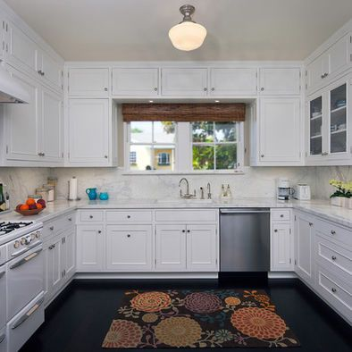 U Shaped  Kitchen Design Cabinets Over Window  Kitchen Cool How To Design Kitchen Cabinets Layout Design Decoration
