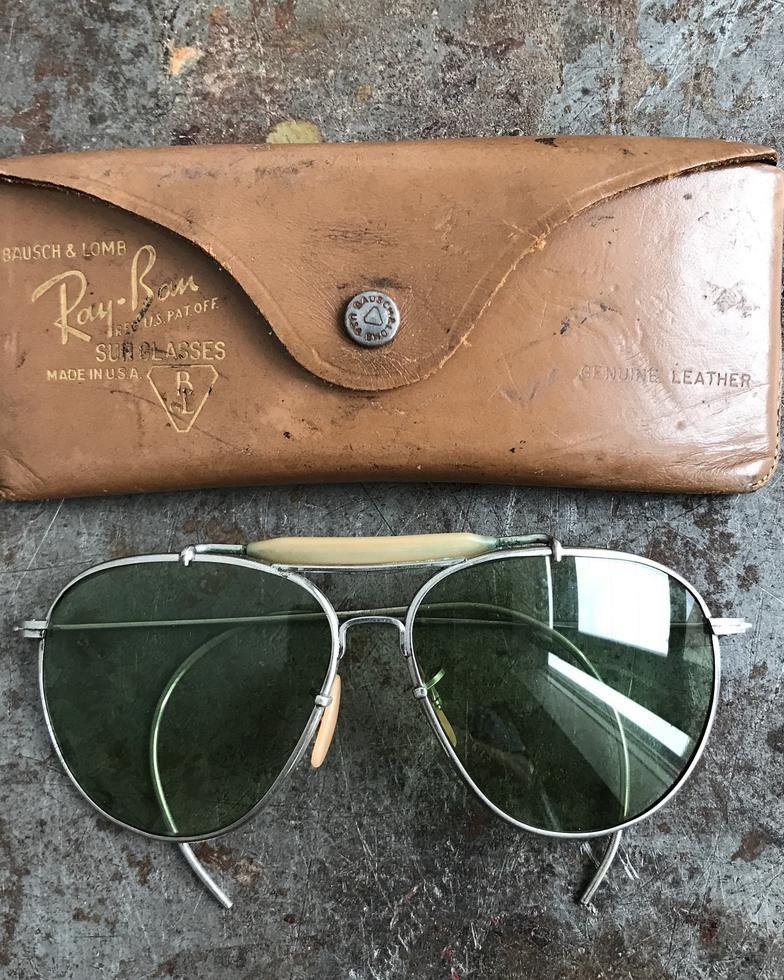2cf40fe0ea0508 Vintage Ray Ban Aviator   Shooter Sunglasses