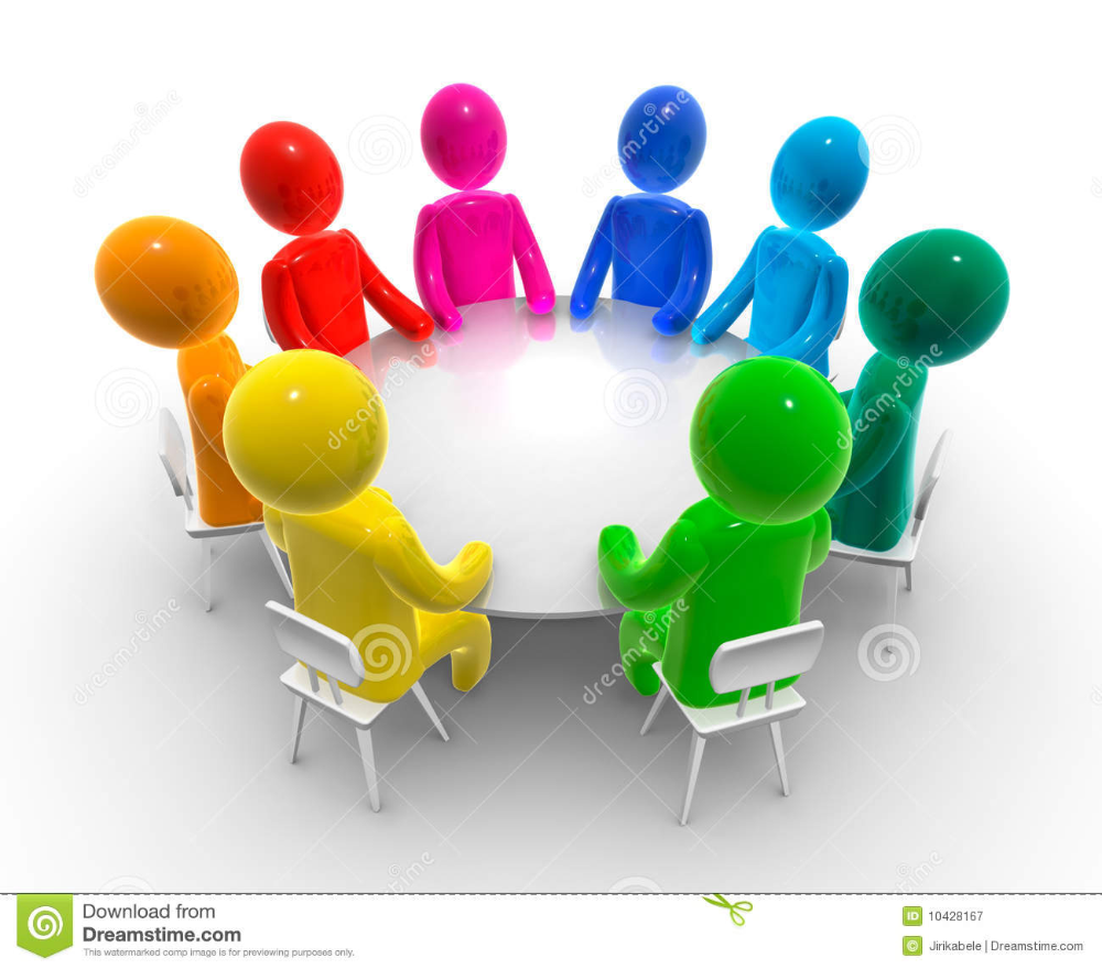Discussion Round Table Stock Illustration Illustration Of Conference 1042 Trabajo En Equipo Imagenes Imagenes Para Diapositivas Imagenes Para Presentaciones