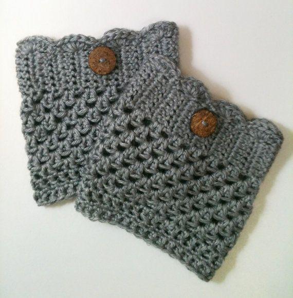 Crocheted Boot Cuffs sur Etsy, $12.83 CAD | Tricot | Pinterest ...