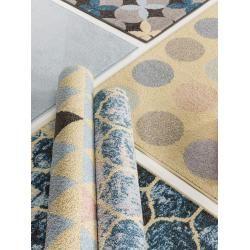 Photo of benuta Kurzflor Teppich Zola Blau/Pink 133×190 cm – Moderner Teppich für Wohnzimmer benutabenuta