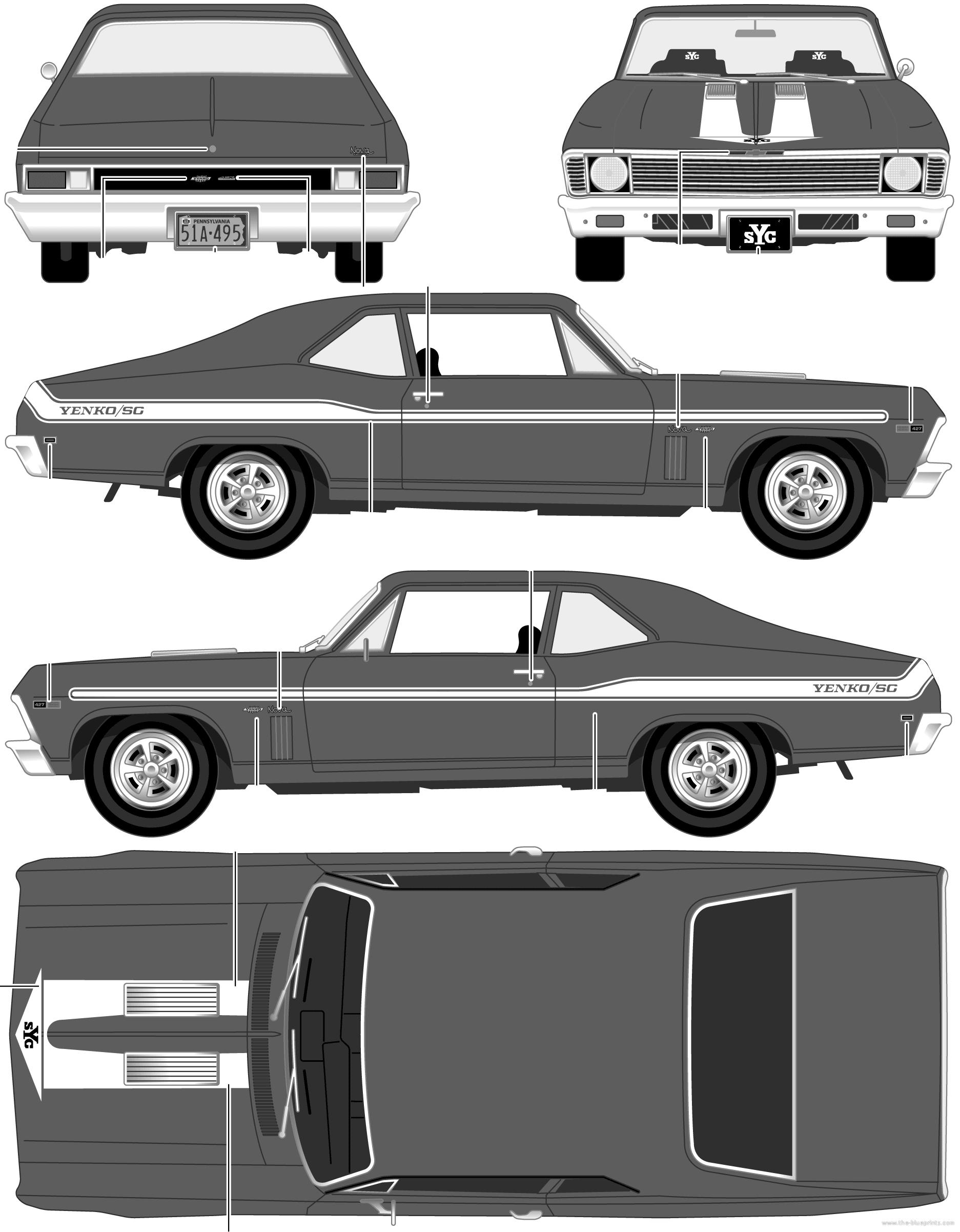 Resultado de imagen para chevy nova blueprint | race cars ...