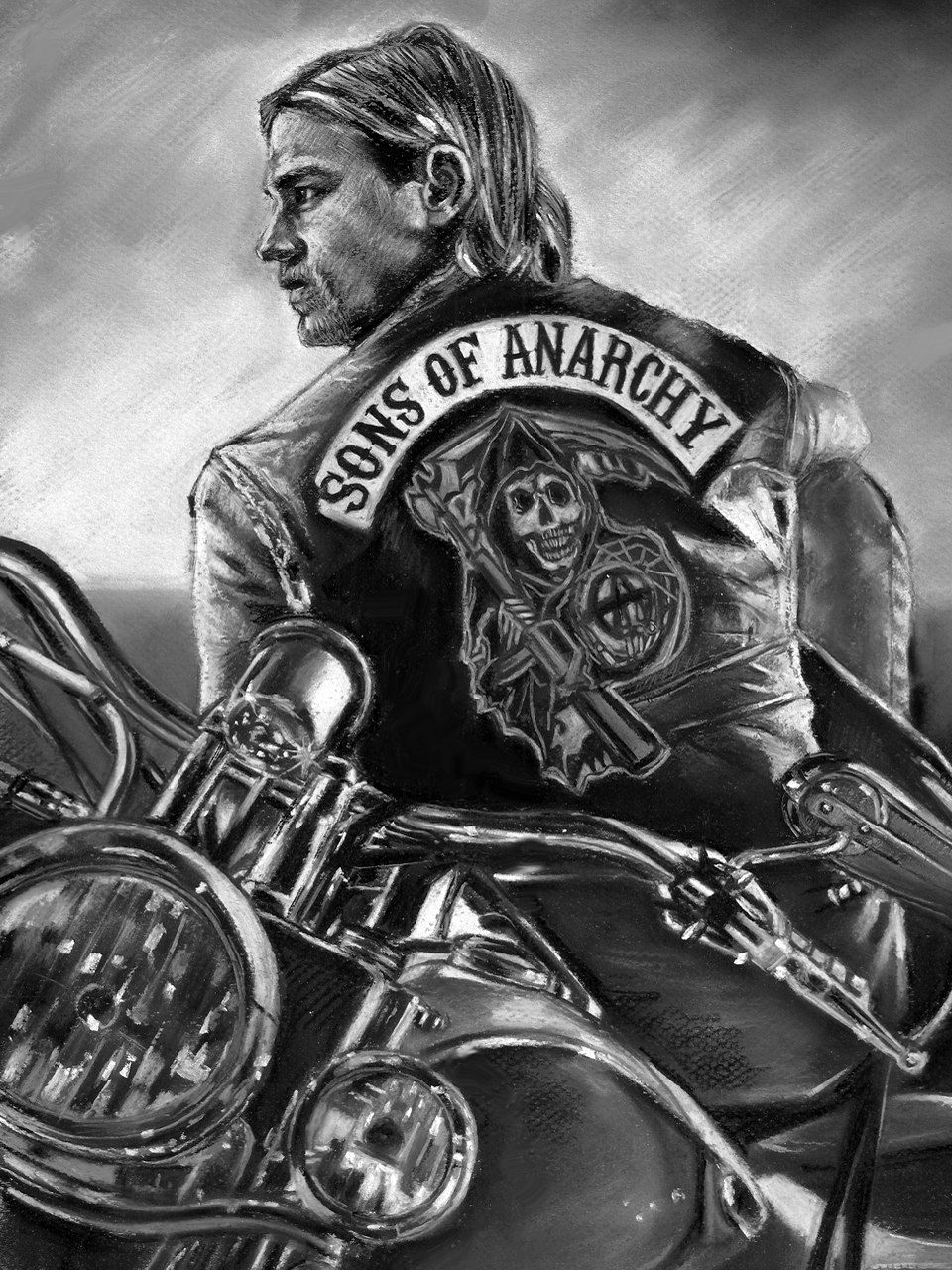 Sons Of Anarchy Jax Teller Painting Poster By Eugenesportraits Sons Of Anarchy Anarchy Charlie Hunnam