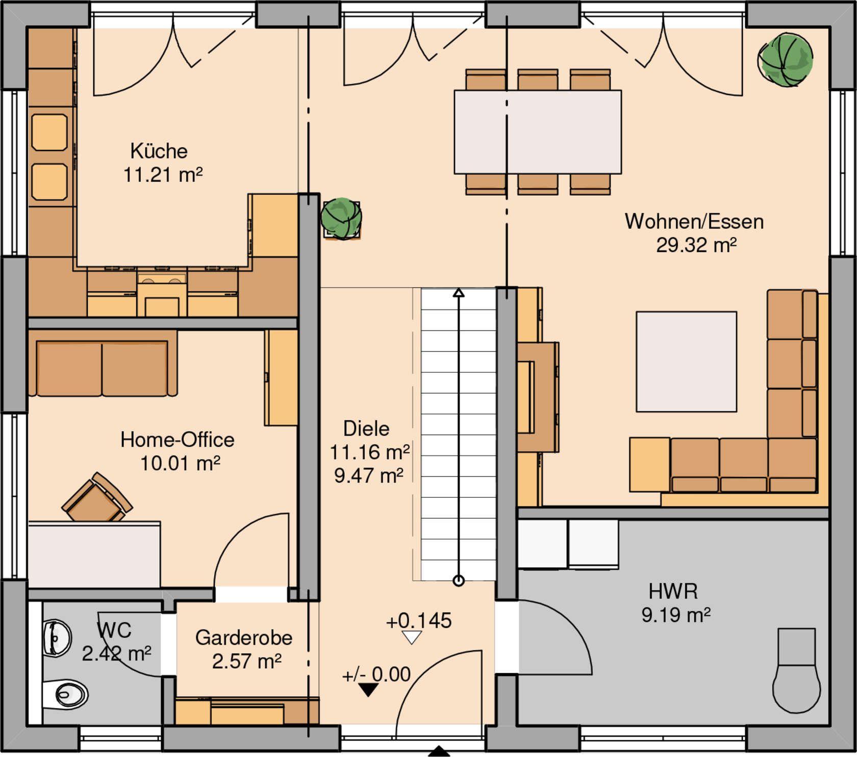 Küchenplan grundriss häuser  grundrisse  pinterest  casas planos de casas und planos