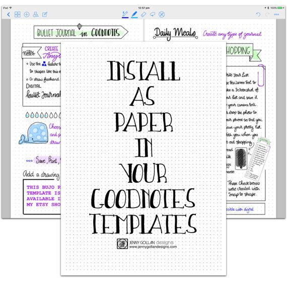 Digital Planner Pages for iPad GoodNotes Bullet Journal Apple