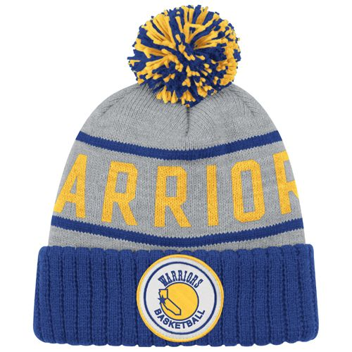 e326ec70 Golden State Warriors Mitchell & Ness NBA Hardwood Classics High Five  Cuffed Pom Knit Hat - Grey