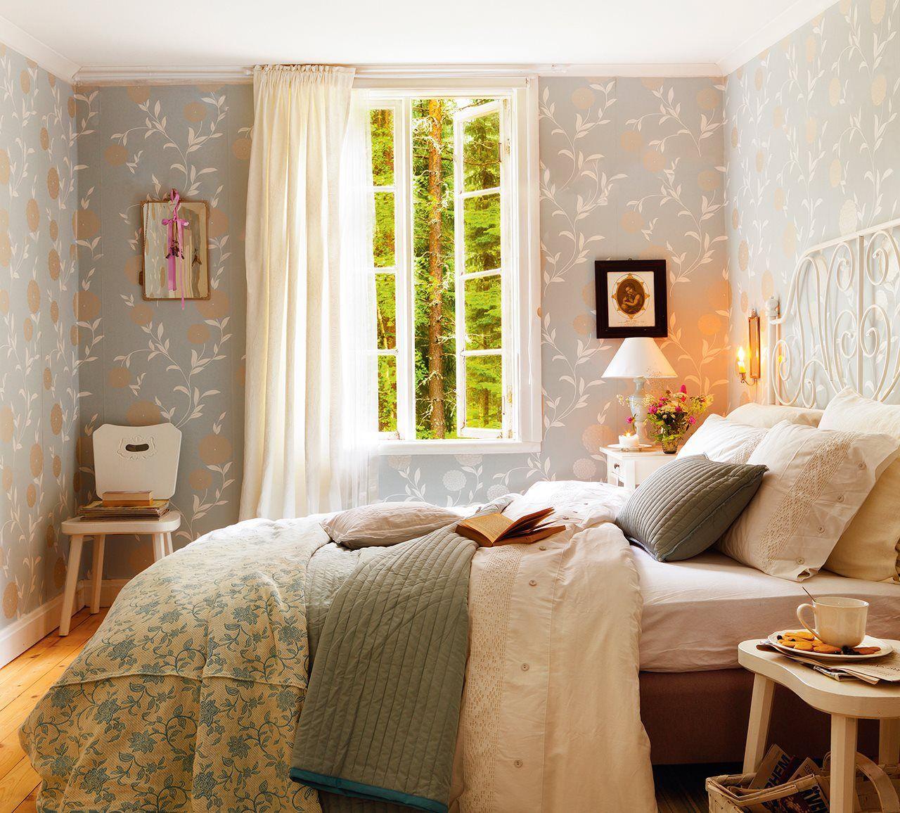 Con Un Papel Pintado Protagonista Te Gustan Los Papeles Pintados  ~ Papel Pintado Dormitorio Blanco
