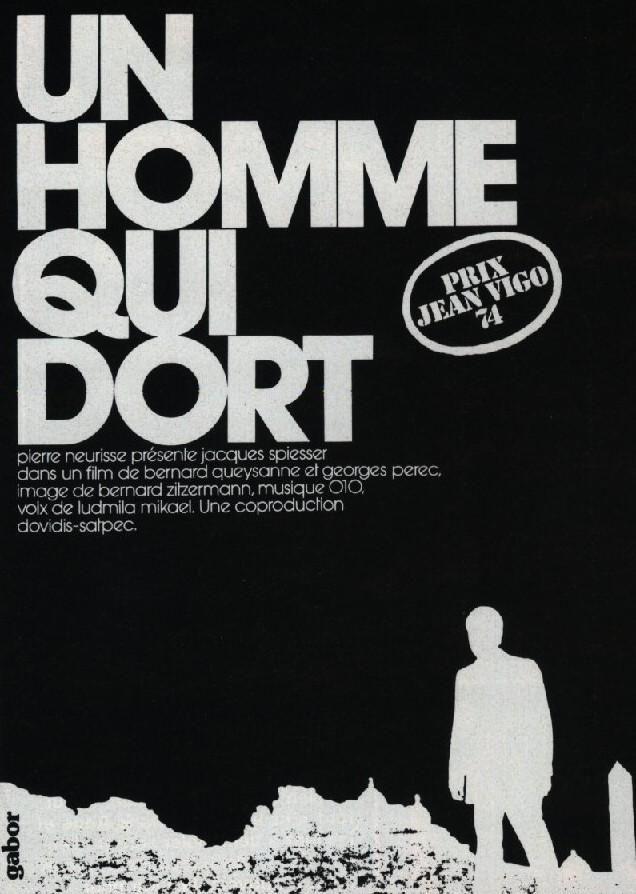 Un Hombre Que Duerme 1974 Filmaffinity A Dormir Hombres Y Levantarse De La Cama
