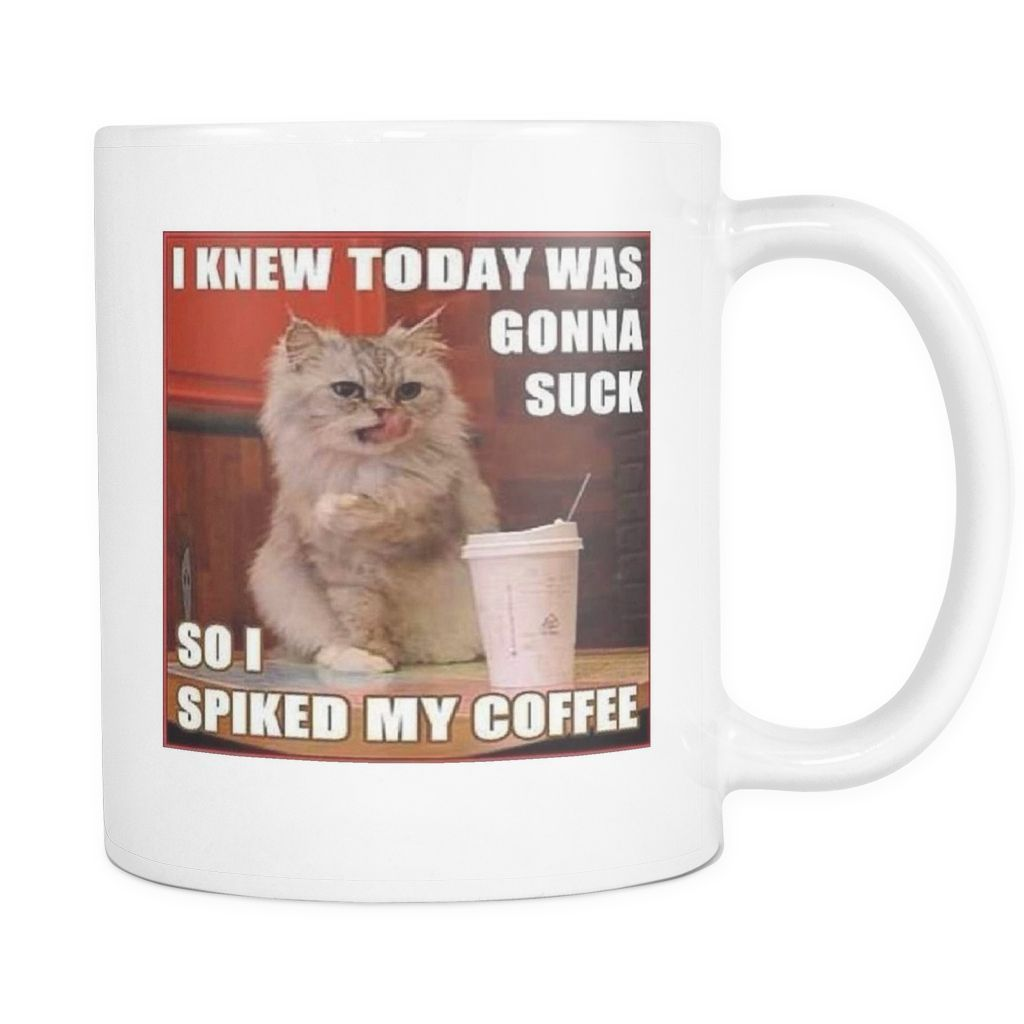 Irish coffee cat meme double sided 11 ounce mug | Cats! | Irish ... #irishCoffee