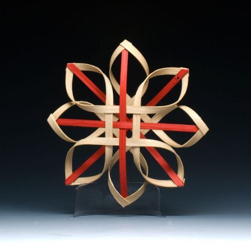 woven Carolina Snowflake in walnut and red by JustaBunchofBaskets, $17.00