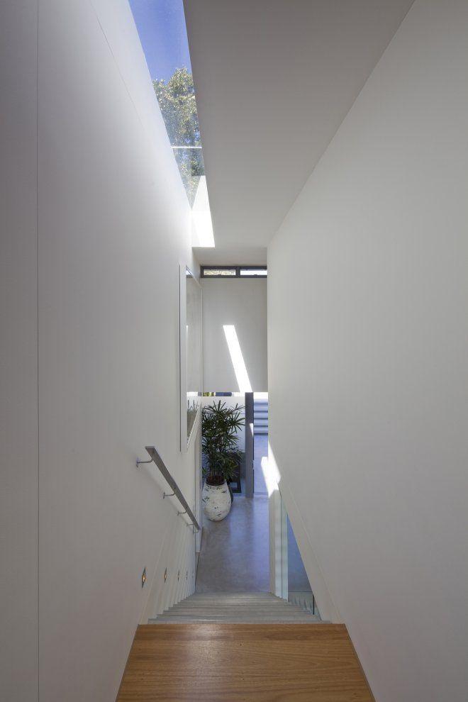Love The Linear Skylight Over The Stair Contemporary House Design Staircase Design House Design
