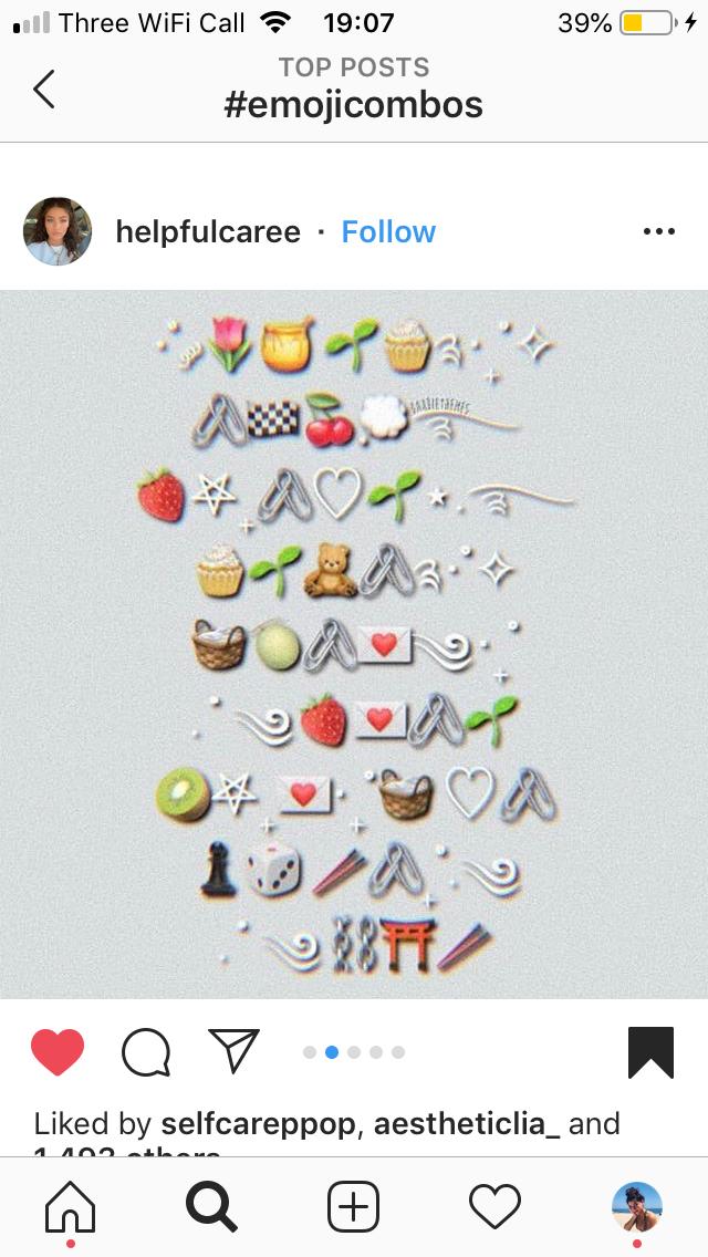 Emoji Combo Instagram Emoji Emoji Combinations Cute Instagram Captions