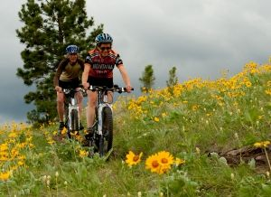 South Hills Trails provide some of the best mountain biking complete with beautiful views! - Helena, Montana #winatrip #vacationgiveaway