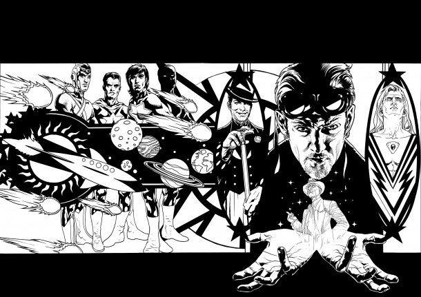 Starman Omnibus #5 Wraparound Cover - 2010 by Tony Harris