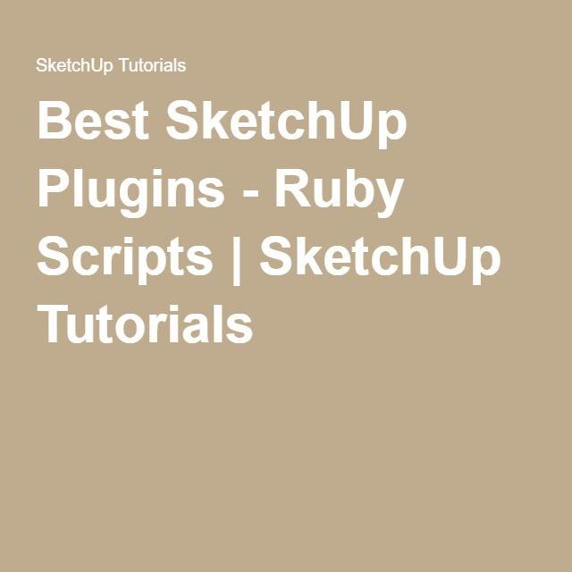 Sketchup plugins ruby