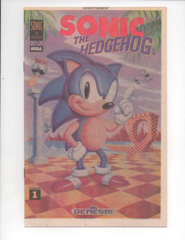 Sonic The Hedgehog 1 1st Appearance Sonic Hedgehog Sega Newsprint Comic 1991 Nm Hollywoodcomicbooks Marvel Comics Comi Sonic The Hedgehog Hedgehog Sonic
