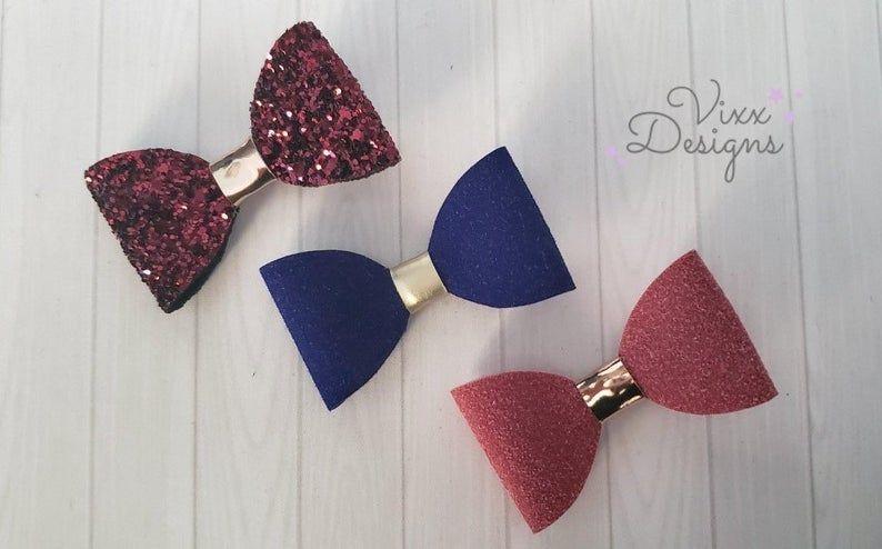 Mauve bow pin set