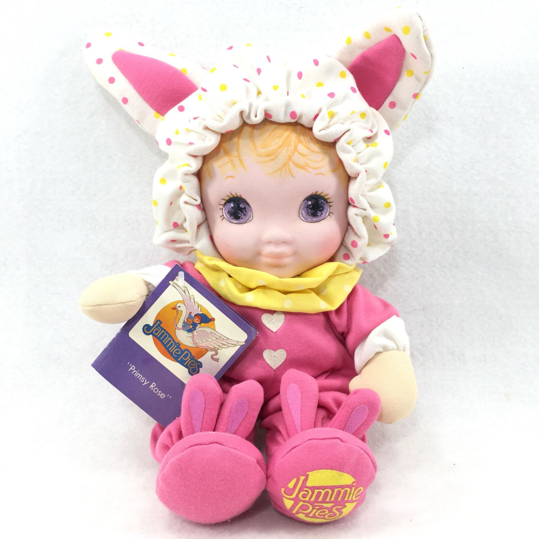 Jammie Pies Primsy Rose Playskool Plush Baby Doll Pink Bunny 1986 Hallmark 12 Baby Dolls Baby Plush Jammie