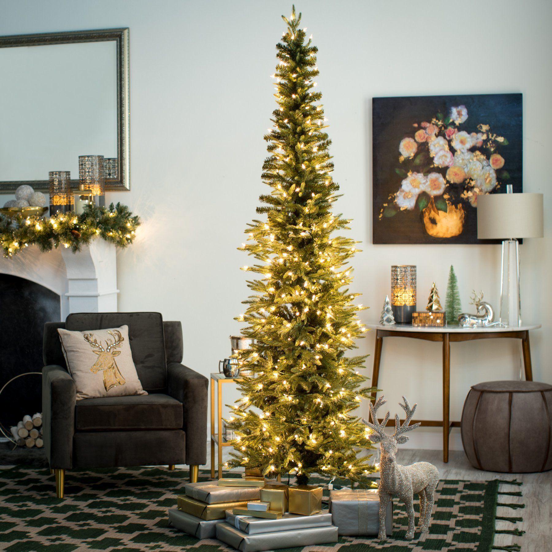 Gerson Company Narrow Natural Cut Lincoln Pine PreLit