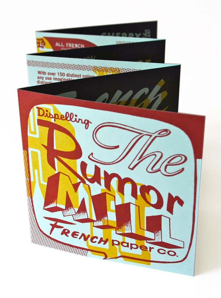 French Paper Rumors Brochures, Graphic design inspiration and - envelope for resume