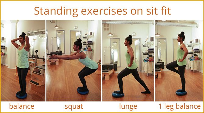 Image Result For Stability Cushion Exercises Yoga Pilates