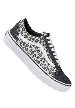vans leopard grijs