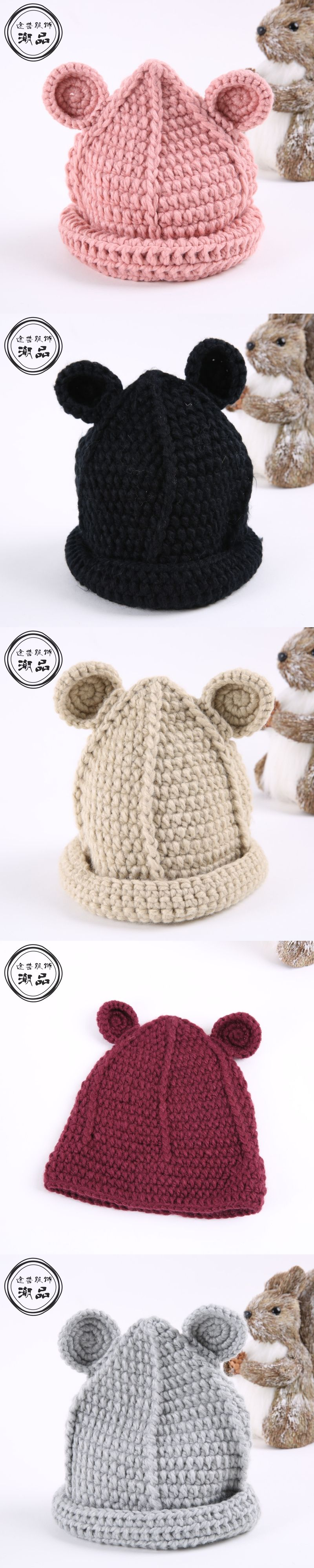 e55807f3de9 Pure Handmade Funny Cap Autumn Winter Warm Childreb Beanie Hat Girls Boys  Caps Cute