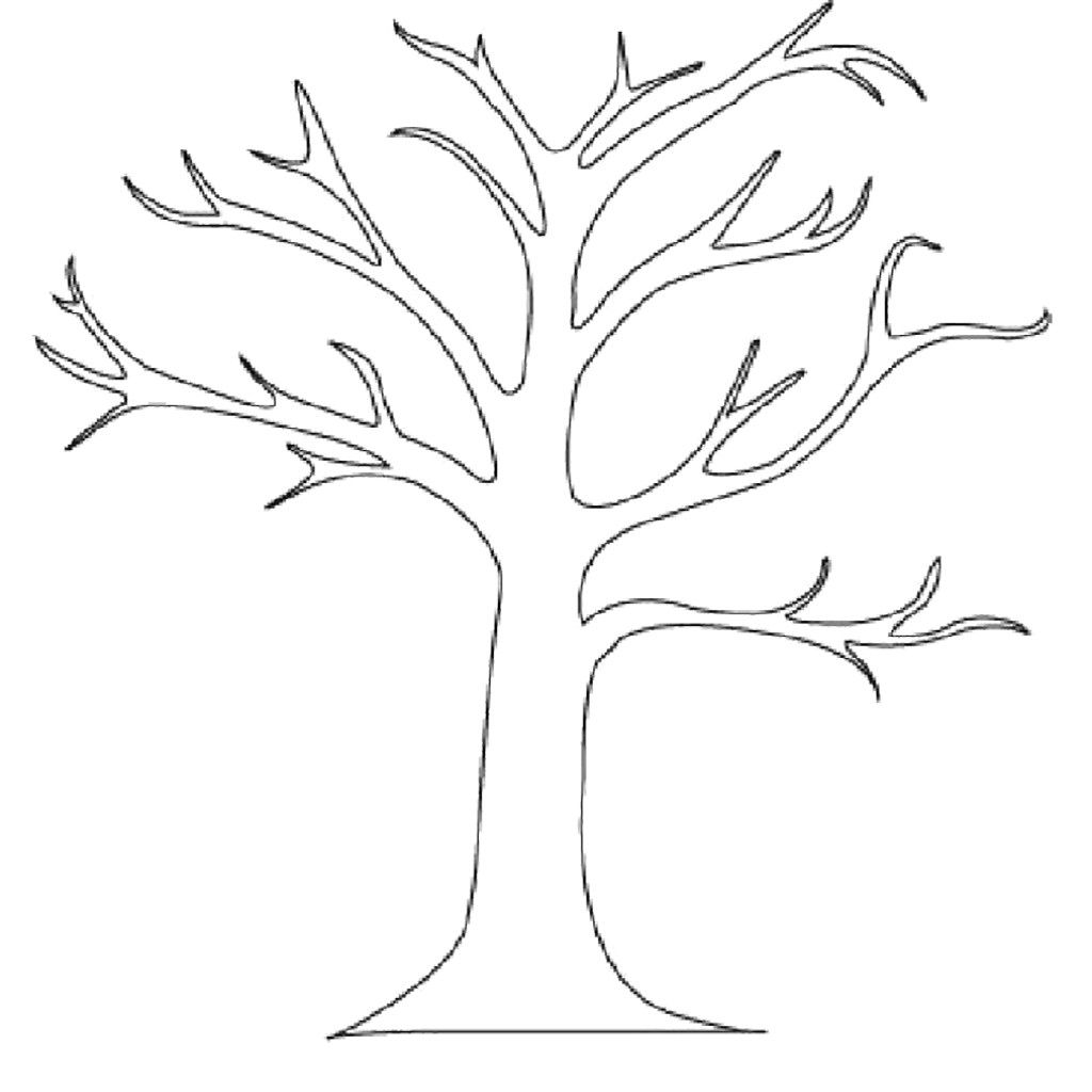 Ten Grossartig Malvorlage Baum Gedanke 2020 Baum Umriss Baume Zeichnen Kinderfarben