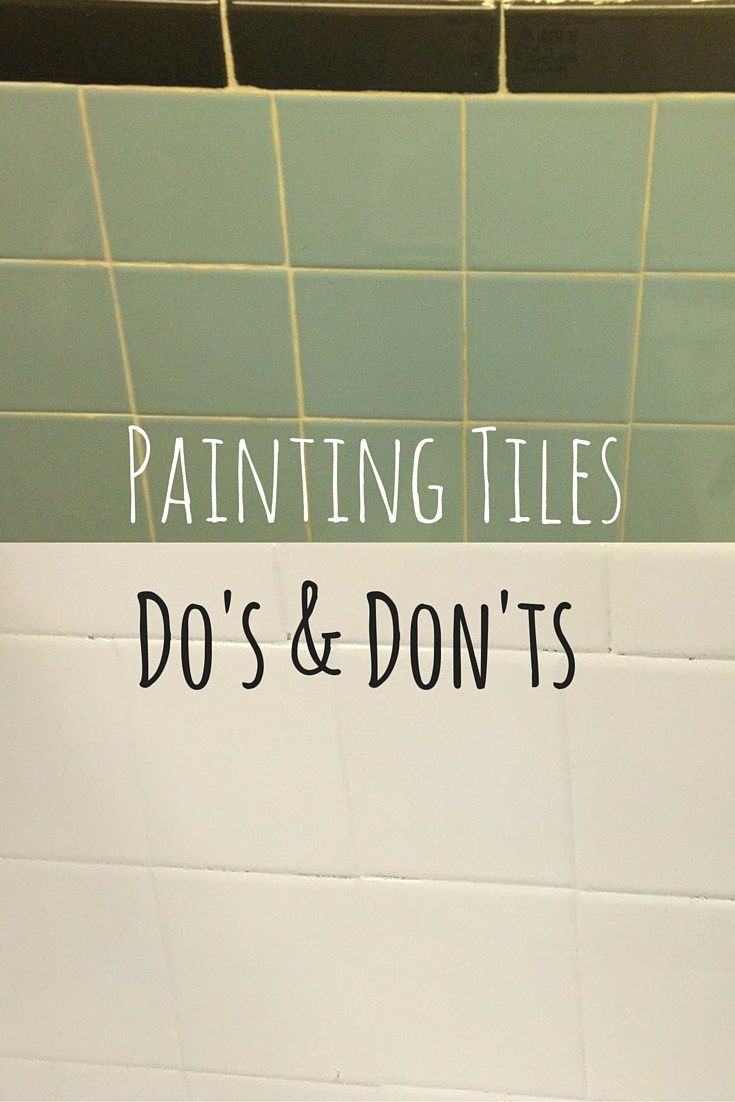 Can You Paint Tile With Zinser