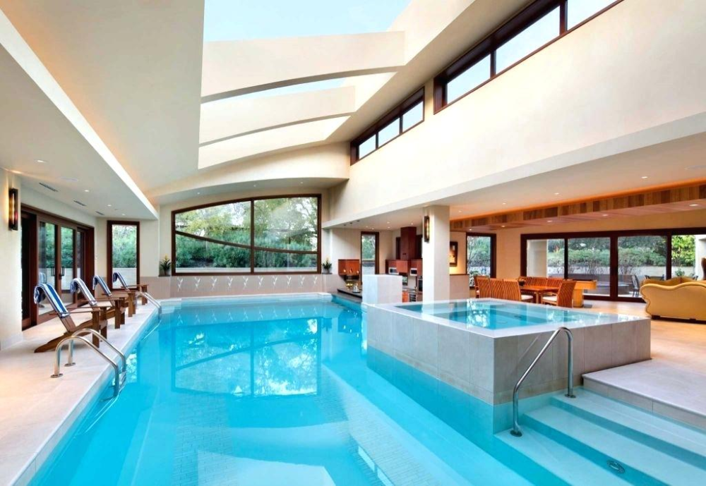 Homes With Indoor Pools 7 Houses With Indoor Pools You Can Buy Now Houses With Indoor Pools For Rent Nea Luxury Pool House Indoor Pool House Indoor Pool Design