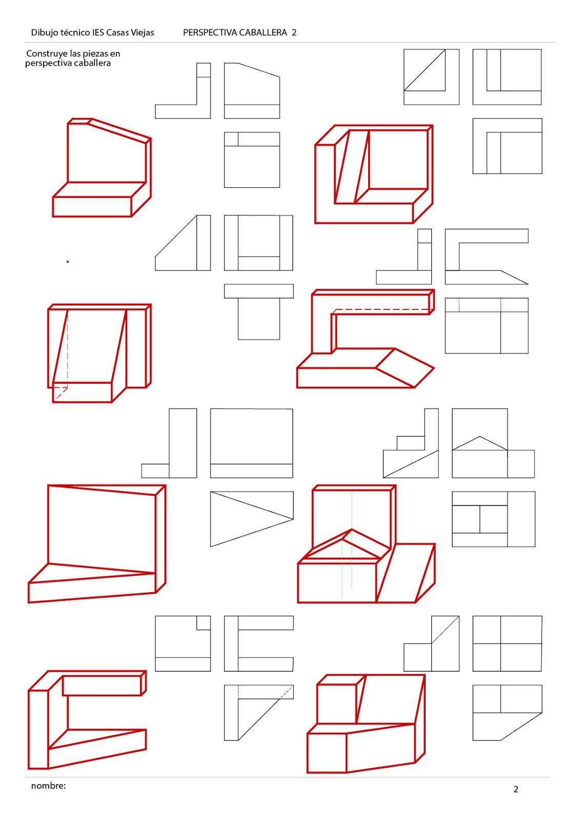 Resultado De Imagen De Perspectiva Caballera Ejercicios De Dibujo Perspectiva Caballera Tecnicas De Dibujo