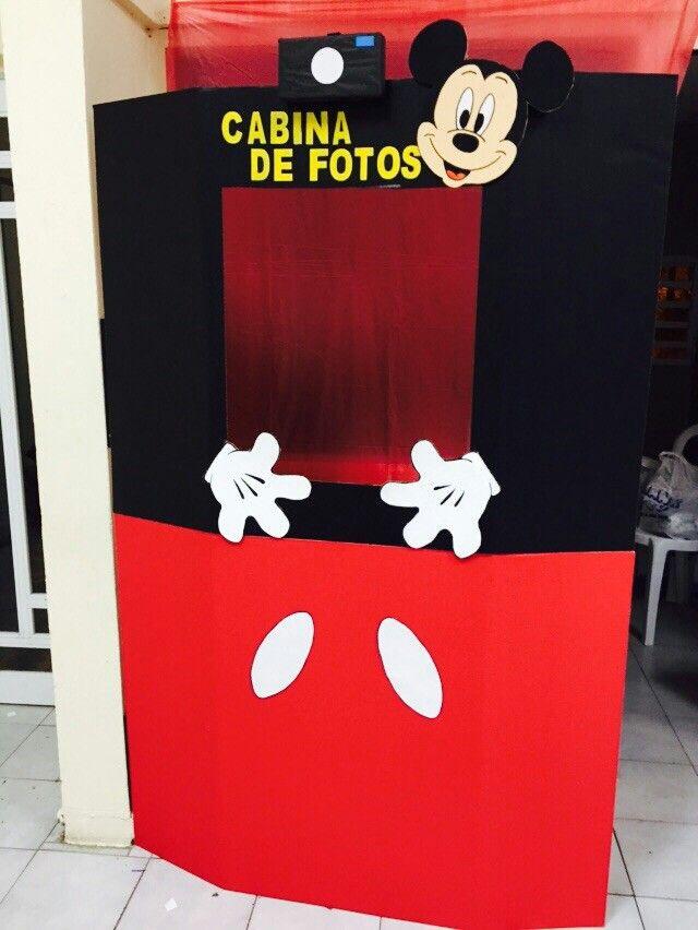 Cabina de fotos cumplea os de mickey y minnie mouse for Cabina del mickey