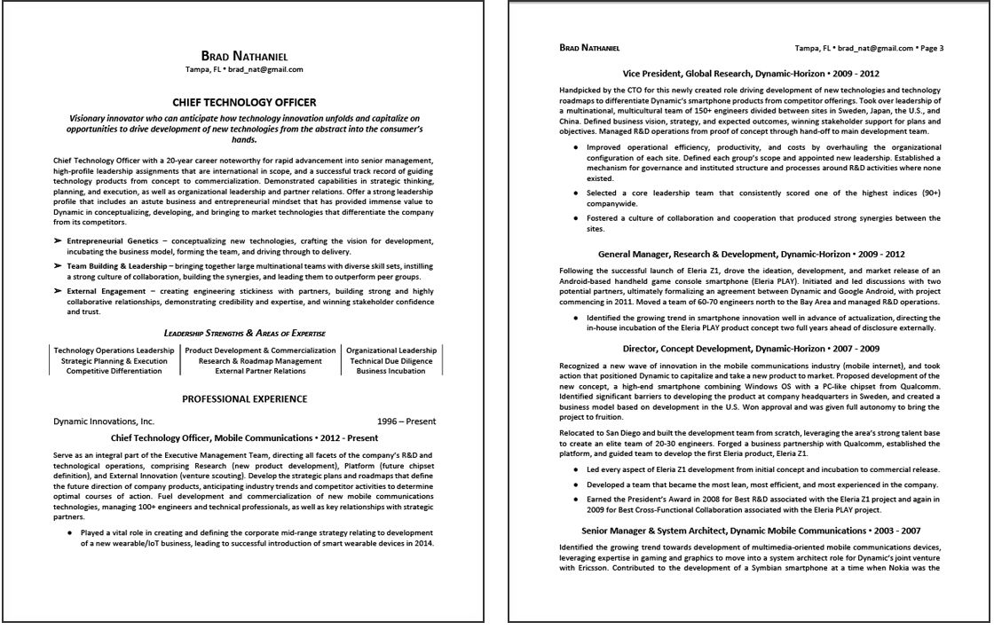 CEO Resume Sample 1 page 1 Resume examples, Good resume