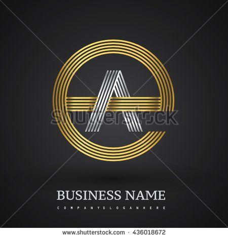 Letter Ae Or Ea Linked Logo Design Circle G Shape Elegant Gold