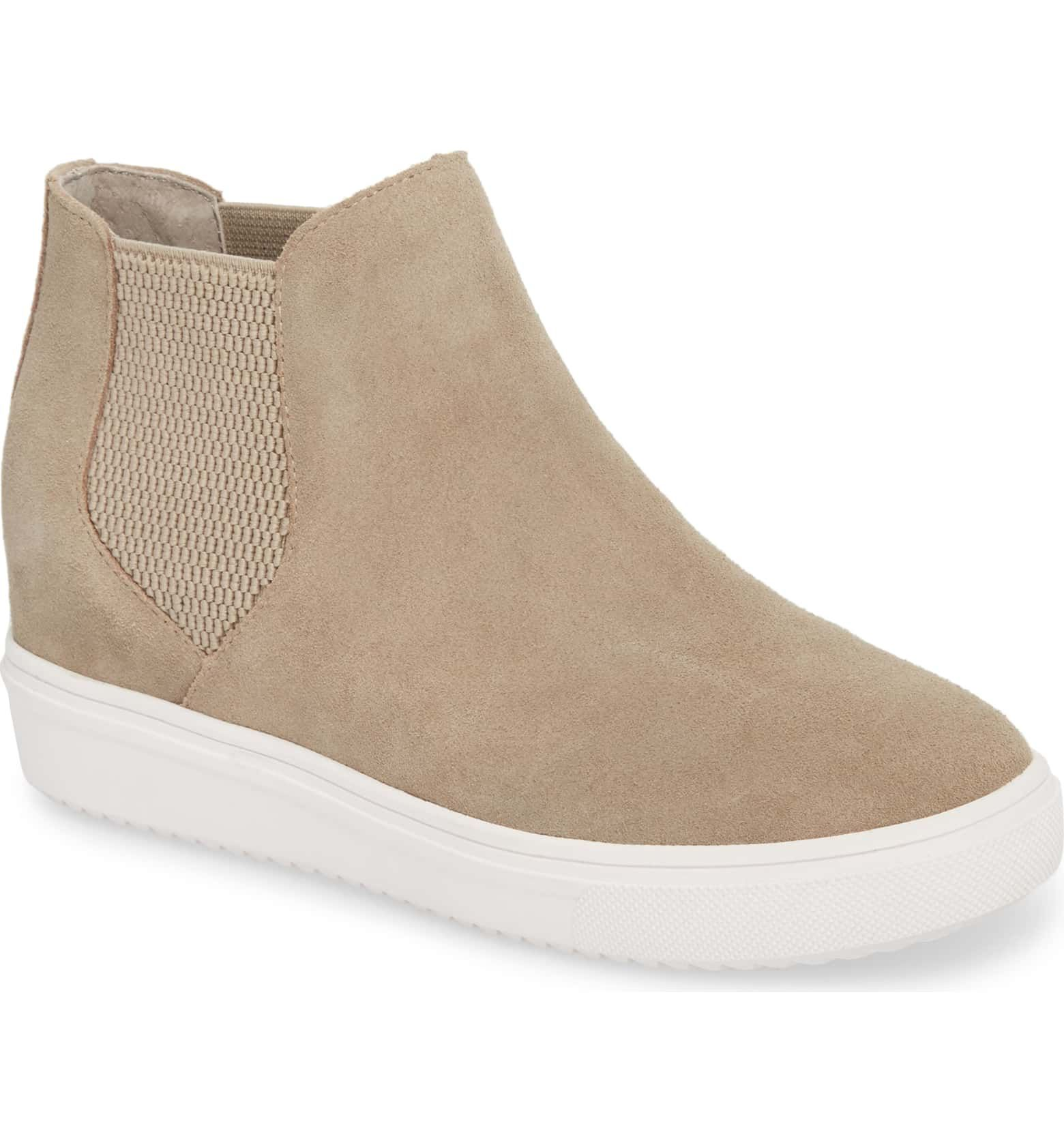 2265a165aaf Sultan Chelsea Wedge Sneaker, Main, color, TAUPE SUEDE | outfits in ...