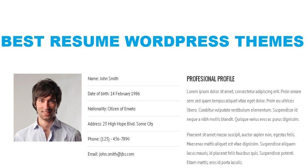 wordpress resume Blog themes wordpress, Wordpress