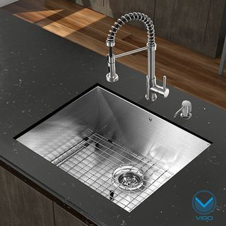 VIGO All in One 23-inch Undermount Stainless Steel Kitchen Sink ...